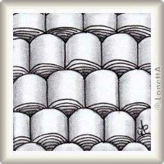 Zentangle-Pattern 'Logjam' by Wayne Harlow CZT, presented by www.musterquelle.de
