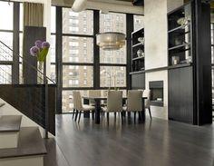 loft dining room - Model Home Interior Design Dining Room Design, Dining Room Table, Dining Furniture, Dining Set, Modern Furniture, Chicago Lofts, Regal Design, Urban Loft, Interiores Design
