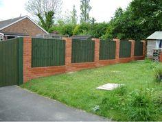 wood and stone fence designs Brickwood fence 4 FencesGates