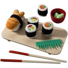 Toy Foods - HABA Biofino Sushi 10 Piece Set *** More info could be found at the image url.