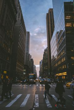 now-youre-cool: Winter Sunset in New York - NOW YOURE COOL