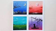 Acrylic painting on canvas for beginners Acrylic Painting Canvas, Landscape, Frame, Decor, Picture Frame, Decoration, Frames, Dekoration, Inredning