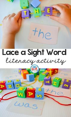Turn boring flashcards into a multisensory activity to engage your students as they learn to read sight words that you are currently working on. You can use any list of words to adapt this activity to match your students skill level. Lace a sight word activity is simple to set up and fun for children to complete. via @dabofgluewilldo