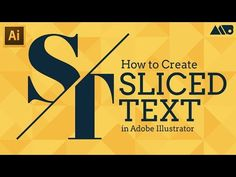 How to Create Sliced Text in Adobe Illustrator Tutorial - YouTube