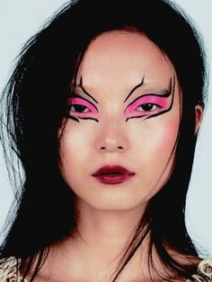 Xiao Wen Ju photographed by Josh Henrikson with makeup by Val Garland for Vogue, Met Gala 2013 Edition