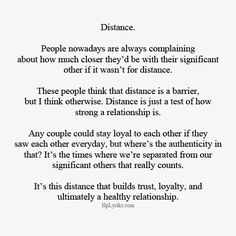 Sad Love Quotes : QUOTATION – Image : Quotes Of the day – Life Quote The distance was extremely hard on me while Andrew was away doing his Marine thing, but I do feel like it helped our relationship. ♥ Sharing is Caring Long Distance Love Quotes, Long Distance Relationship Quotes, I Miss You Quotes For Him Distance, Relationship Tips, Patience Quotes Relationship, Relationship Pictures, Love Quotes For Him, Cute Quotes, Quotes To Live By