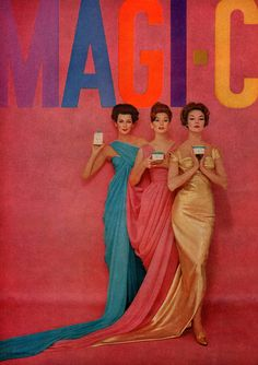 "hollyhocksandtulips:    Carmen Dell'Orefice, Suzy Parker and Jean Patchett - The true ""charmed ones"""