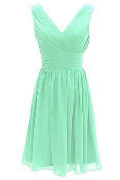 Short Bridesmaid Dress Chiffon Mint Bridesmaid Dress Bridesmaid Dresses 2014