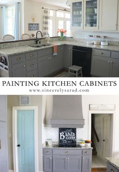 DIY Painting Kitchen Cabinets - lots of great tips if you're considering chalk paint.
