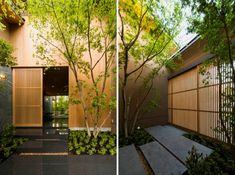maison japonaise avec jardin intérieur