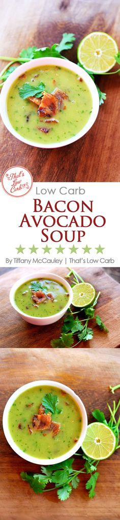 This amazing, brothy soup is perfect for summer. It's light, it's satisfying, and the flavors are unique and delicious. Enjoy it warm or chilled! ~ http://www.thatslowcarb.com