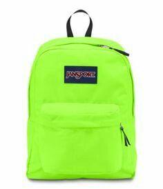 Neon Green Jansport Backpack