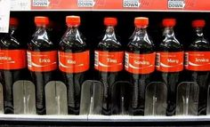 """Well, this is just about perfect.   Someone Found Every Name From """"Mambo No. 5"""" On Coke Bottles"""