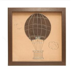 Air balloon wire art Framed wall art Wall wire art by GaliConcept