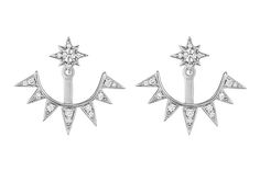 Penny Preville's Starburst earrings jackets, featuring diamonds set in 18-karat white gold ($3,280)