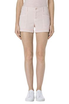 Brona Mid-Rise Cargo Short in Distressed Peach Whip