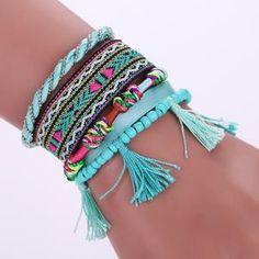 Buy KMVEXO Multilayers summer leather bracelet charm bracelets & bangles magnet buckle tassel bohemian bracelets for women manchette Cheap Charm Bracelets, Bohemian Bracelets, Love Bracelets, Ankle Bracelets, Handmade Bracelets, Fashion Bracelets, Diamond Bracelets, Diamond Rings, Bangles