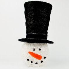 Snowman Tree Topper from Cracker Barrel Christmas Projects, Christmas Time, Christmas Ideas, Christmas Decorations, Snowman Tree Topper, Tree Toppers, Xmas Party, Happenings, Snowmen