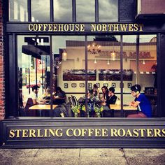 Cool Beans: The Best Coffee Shops in the U. -- Sterling Coffee Roasters (Portland, OR) - Things to do in Oregon Best Coffee Roasters, Best Coffee Shop, Coffee Cafe, My Coffee, Coffee Shops, Portland Coffee, Shop Facade, Cafe Bistro, Cafe Style