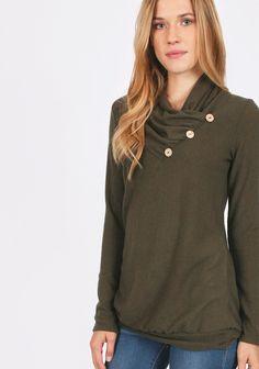 Victoria Gardens Sweater in Olive