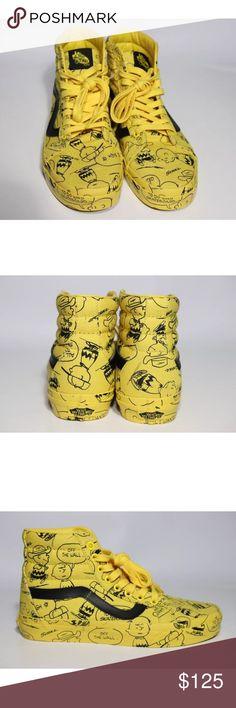 7db8628729 Vans Peanuts Reissue Charlie Brown New w box . Vans Peanuts Reissue Charlie  Brown Yellow Black Color Men s size Women s size 8 Vans Shoes Sneakers