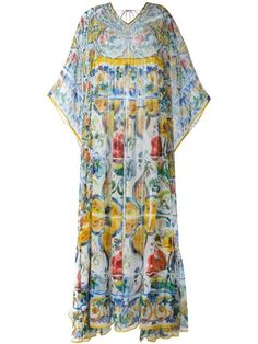 Shop Dolce & Gabbana Majolica print kaftan dress in Donne Concept store from the world's best independent boutiques at farfetch.com. Shop 400 boutiques at one address.