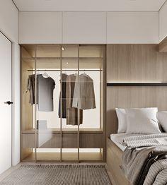 Minimalist Apartment, Minimalist Interior, Wardrobe Closet, Built In Wardrobe, Luxury Homes Interior, Interior Design, House Construction Plan, Room Design Bedroom, Small Room Design