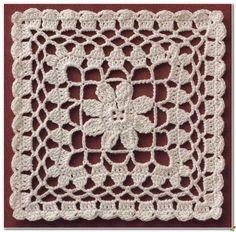 croche: crochet square motif.