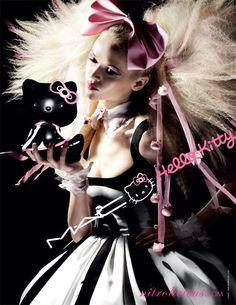 MAC #Cosmetics Hello Kitty campaign featuring a blonde model #hellokitty  @themaccosmetics
