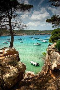Algaiarens beach in La Vall. Ciudadela Minorca, Balearic Islands, Spain, Europe