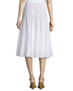Pleated Dance Skirt, Optic White