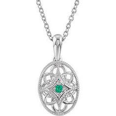 Sterling Silver Filigree Gemstone Necklace