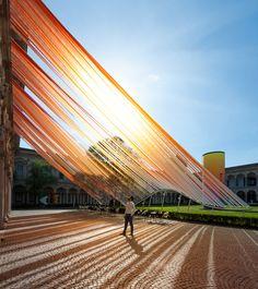 MAD Architects creates a translucent installation for the Milan Design Week 2016 in the traditional Cortile d'Onore courtyard of Università degli Studi di Milano.