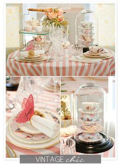 pretty tea party decor