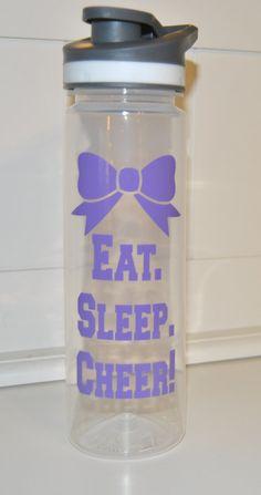 Cheer Water Bottle, Cheerleading Water Bottle, Eat Sleep Cheer,