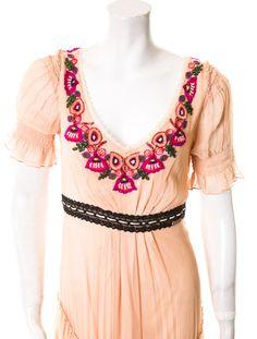 1stdibs | John Galliano folkloric dress with sequin trim
