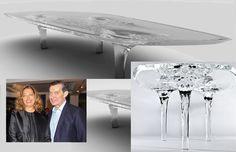 Струящийся стол Liquid Glacial из плексигласа, Заха Хадид (Zaha Hadid)
