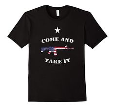 Mens Come and Take it Shirt with AR15 Texas Pride 2XL Black