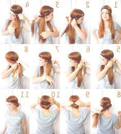 Die 18 Besten Bilder Von Frisuren Mit Haarband Hair Makeup Easy