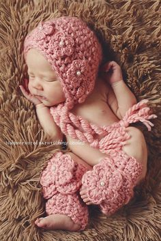 Pattern: 'Wild Rose Bonnet & Legwarmers', Crochet Baby Hat, 0-3mo, 6-12mo, 18-24mo on Etsy, $5.83