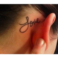 22 Cute Tattoos Behind The Ear
