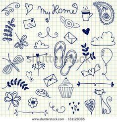 My Home pen doodles on squared paper by Martina Vaculikova, via Shutterstock
