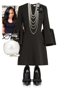 """Communion Sunday!!!"" by cogic-fashion on Polyvore featuring Yves Saint Laurent, Roksanda, Kenneth Jay Lane, Goldmajor and Chanel"
