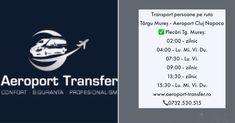 Program curse transport persoane pe ruta: Târgu Mureș - Aeroport Cluj Plecări Tg. Mureș: Ora 02.00 (zilinic)  Ora 04.00 (Lu.Mi.Vi.Du.)  Ora 07.30 (Lu.Vi.)  Ora 09.00 (zilinic)  Ora 13.30 (zilinic) Ora 15.30 (Lu.Mi.Vi.Du.)  Rezervări online bilete:  0732.530.515