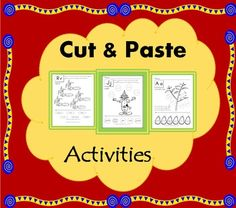 Here you have 26 cut and paste activities to help students recognize words and sounds of the alphabet, practice spelling and acquire new vocabulary. These cut and paste worksheets are great for kids to learn fine motor skills, especially in pre-k and Kindergarten. Although they can be used beyond these grades for students below grade level, English learners or special education.