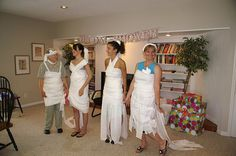 Toilet Paper Wedding Dress Game For Bridal Shower Fun My Creative And Dedicated Friends Worked Hard On This