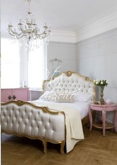 French Bed Cote D'azur | Bedroom Furniture | French Reproductions. The pink furniture