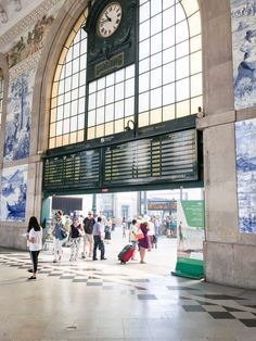 Sao Bento Train Station in Porto, Portugal. Named one of the most beautiful train stations in the world!
