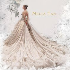 """""""Every heart sings a song, incomplete, until another heart whispers back. Those who wish to sing always find a song."""" Special Thanks to: La La Land Axioo @fensoong  Make up by: @lisabudiarti  #meltatan #design #ballgown #silver #gold #grand #fashion #style #fairytale #designer #dress #wedding #gown #photo"""