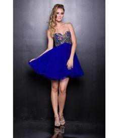 2013 Prom Dresses - Royal Blue Chiffon Short Prom Dress - Unique Vintage - Prom dresses, retro dresses, retro swimsuits.